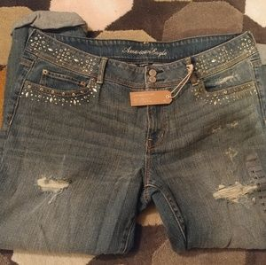 American Eagle Limited Edition Cropped Jean 18 NWT